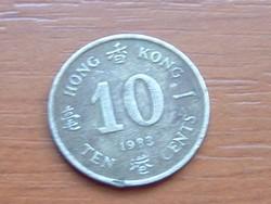 HONG KONG 10 CENT 1983 #
