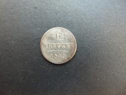 6 krajcár 1849 A Bécs