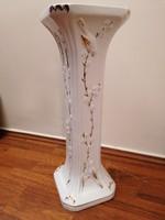 Nagyméretű (60 cm) kerámia virágállvány, arannyal díszített, madár motívumos. Nagyon szép!!