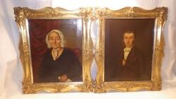 Hans Canon (1829-1885) kiváló Osztrák festőművész festmény párja , portrék