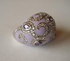 Iparművész ezüst gyűrű tűzzománccal
