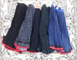 Ráncolt rakott szoknya csomag (5 db) - népi paraszti népviseleti ruhadarabok