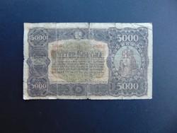 5000 korona 1923 Magyar Pénzjegynyomda RT