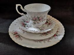 Gyönyörű Royal Albert Lavender Rose rózsás reggeliző szett 4 részes, hibátlan