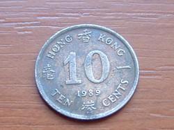 HONG KONG 10 CENT 1989 #