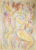 Németh Miklós - 42 x 30 cm akvarell, papír