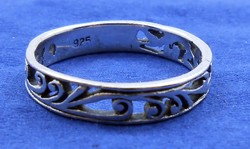 Ezüst gyűrű áttört indás régi 925