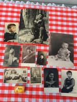 10 darab régi kép fotó - gyerek - baba - kisfiú