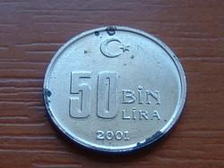 TÖRÖKORSZÁG 50 BIN 50.000 LÍRA 2001 #