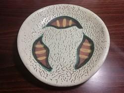 Retro kerámia tál, tányér