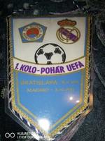 Slovan Bratislava - Real Madrid meccs zászló (UEFA Kupa)