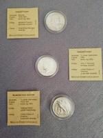 Amerikai ezüst érmék, 3db