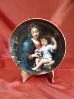 Hollóházi porcelán tányér Pierre Mignard