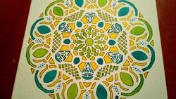 Bőség ,siker mandala vászon kép