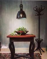 Ipari lámpa, zománc lámpa, lámpabura loft vintage, gyárlámpa
