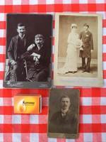 3 darab régi kép fotó - keményhátú fotó - Szombathely - Szabadka