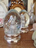 Húsvéti üveg gömb, nyuszis