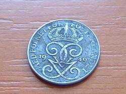 SVÉDORSZÁG 1 ŐRE 1949 WW II VAS 1,7 g, 16 mm #