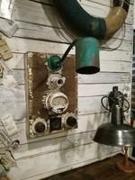 Vintage kapcsoló doboz, lámla, ipari dekoráció, loft design, ipari lámpa