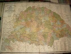 A Magyar Sz.Korona Országai régi térkép litografált