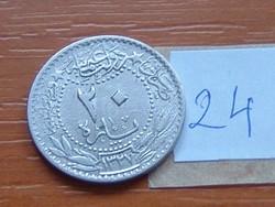 TÖRÖKORSZÁG 20 PARA AH1327 (1909-1918) 5 V. MOHAMED URALKODÁSÁNAK 5. ÉVE 24.