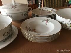 Antik Henneberg csodás antik porcelán étkészlet