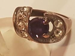 Régi Cirkon köves réz gyűrű