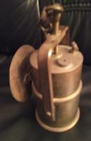 Bányász  réz karbid lámpa Recskről, 1,8 kg