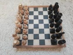 Retro fa sakk készlet