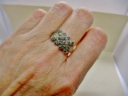 Szépséges régi markazit köves ezüstgyűrű