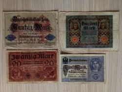 4 db német márka / id 5945/