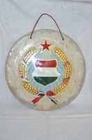Üveg lapos Kádár címer