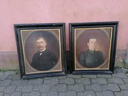 Biedermeier portré párban