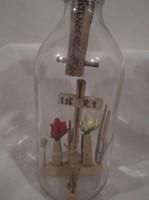 Üveg - 1960 - ban készült Osztrák türelemüveg - 20 x 7 cm - hibátlan
