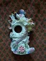 42 cm vintage kínai vagy japán porcelán szobor gésás nipp dísztárgy