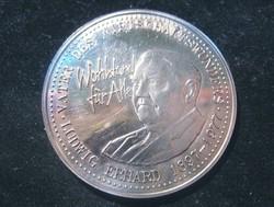 Ludwig Erhard 1897- 1977 emlékkiadású érme, színezüst,0,999/1000 aXF