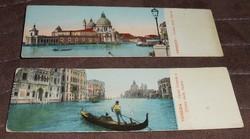 Velence Venezia olasz képeslap levelezőlap keskeny 1900 körül antik