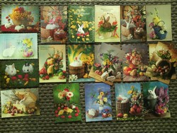 Húsvéti állatos képeslapok-'90es évek