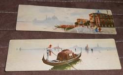 Velence Venezia képeslap olasz levelezőlap keskeny 1900 körül antik