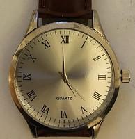 Svájci férfi Quartz óra barna bőr szijjal (4cm széles)