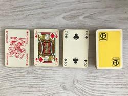 Ritka Francia játékkártya 110 darabos teljes lapkészlettel, eredeti dobozában