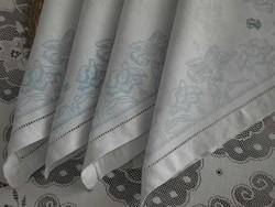 Antik damaszt szalvéták, 4 db.
