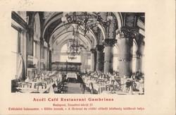 Aczél Café Restaurant Gambrinus BP. 1909