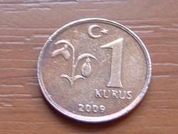 TÖRÖKORSZÁG 1 KURUS 2009 2,2 g,16,5 mm #