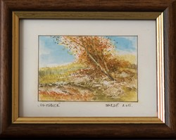 KIÁRUSÍTÁS! Barsi Ferenc, Mini akvarellek, Október. Nagyszerű ajándék ötlet!