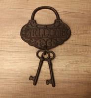 Fém kulcs falidísz
