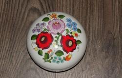 Kalocsai porcelán, bonbonier, virágmintás