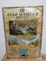 Első Magyar Általános Biztosító Társaság. Alumínium tábla