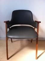 Mid Century bőr szék, felújított