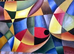 GÁBOR JENŐ (1893 - 1968)  Geometrikus kompozíció,